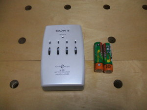 単三ニッケル水素充電池と充電器