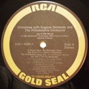 RCA Gold Seal AGL1-4088, A Christmas with Eugene Ormandy and The Philadelphia Orchestra.