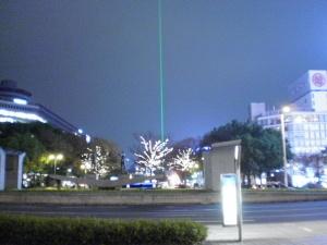 謎のレーザー光?