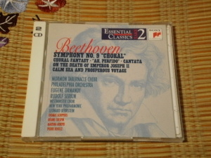 """SME/Sony Classical Essential Classics TAKE2 SB2K 63240, Beethoven Symphony No.9 """"Choral"""" - Eugene Ormandy & The Philadelphia Orchestra"""