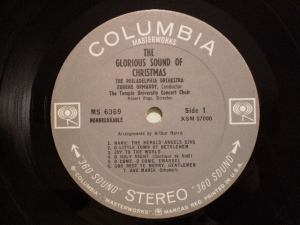 Columbia Masterworks MS-6369 LP Label