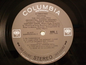 Columbia Masterworks MS-6039 LP Label