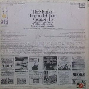 Columbia Masterworks MS6951 The Mormon Tabernacle Choir's Greatest Hits - 2
