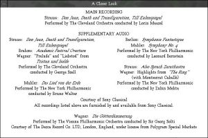 Multimedia Strauss - Audio Credits
