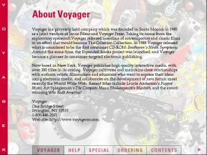 Voyager Presents Version2.0 About Voyager