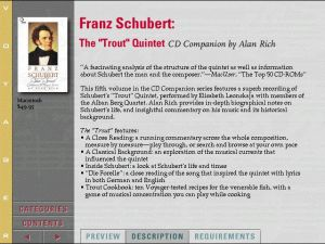 Voyager Presents Version2.0 - Franz Schubert The Trout Quintet CD Companion by Alan Rich