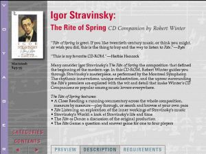 Voyager Presents Version2.0 - Igor Stravinsky The Rite of Spring CD Companion by Robert Winter