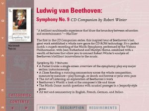 Voyager Presents Version2.0 - Ludwig van Beethoven Symphony no.9 CD Companion by Robert Winter