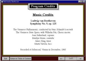 Legendary Multimedia - Multimedia Beethoven Music Credits