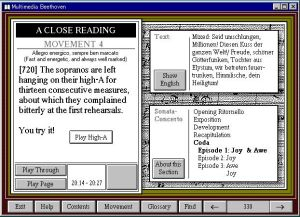 Legendary Multimedia - Multimedia Beethoven - Close Reading
