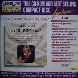 LaserLight Digital CD + ROM 90 011 Beethovens's Symphony No.9 booklet
