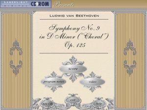 Laserlight Symphony No.9 Menu