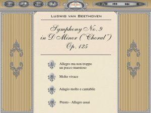 Laserlight Symphony No.9 Score Menu