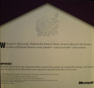 Microsoft Multimedia Strauss Booklet - 1