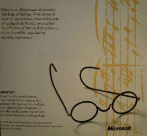 Microsoft Multimedia Stravinsky Tray Booklet