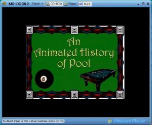 InterPlay Virtual Pool DOS Version History of Pool - 2
