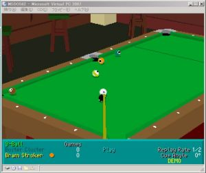 InterPlay Virtual Pool DOS Version DEMO - 2