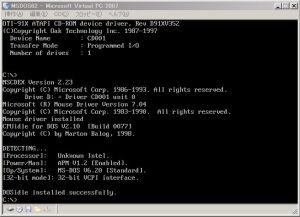 Virtual Pool MS-DOS Starting - 2