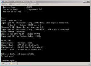 Virtual Pool MS-DOS Starting - 3