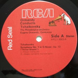 RCA Red Seal ARL1-3063 Label SideA