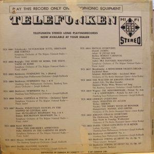 TELEFUNKEN TPS 12513 Dancing Violins - Rudy Risavy & His Dancing Violins Jacket Catalog