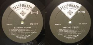 TELEFUNKEN TPS 12513 Dancing Violins - Rudy Risavy & His Dancing Violins Labels & Tracks