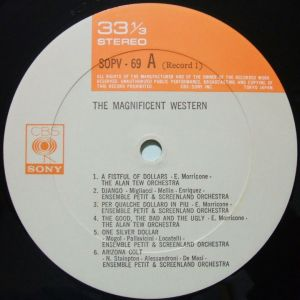 CBS/SONY SOPV69-70 Label