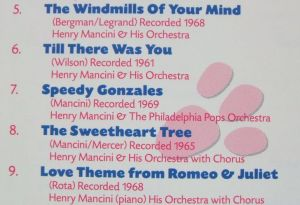 BMG Records RCA Victor 74321 24283 2 Henry Mancini int the Pink The ultimate Collection Booklet Inside