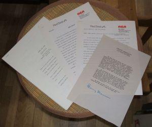 Henry Mancini Press Kit Papers