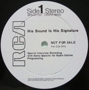 RCA Red Seal SPS-33-557 his sound is his signature Label