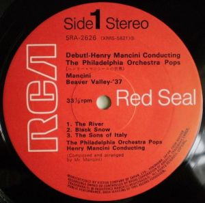 日本ビクター/RCA Red Seal SRA-2626 Label