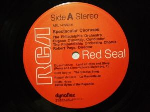 RCA Red Seal ARL1-0580 Label