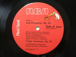 RCA Red Seal ARL1-3001 Label