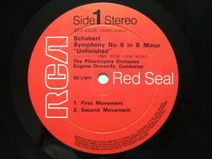 日本ビクター RCA Red Seal SRA-2508 Label