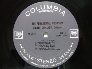 Columbia Masterworks MS7041 Label