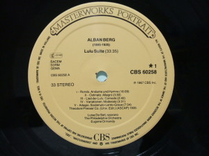 CBS Masterworks Portrait CBS 60258 Label