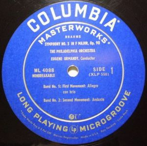 Columbia Masterworks ML 4088 Label