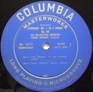 Columbia Masterworks ML 4477 Label