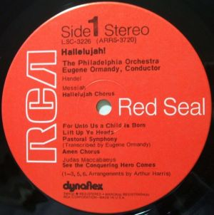 RCA Red Seal LSC-3226 No Dog Dynaflex Label