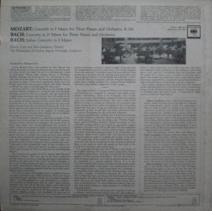 Columbia Masterworks MS6495 Liner Notes