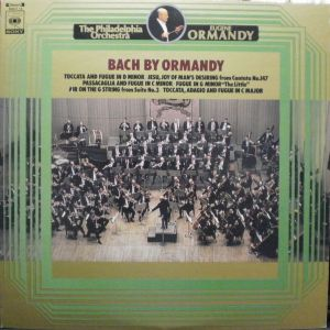 CBS・SONY SOCT-15 Bach by Ormandy Jacket
