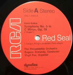 RCA Red Seal ARL1-0484 Label
