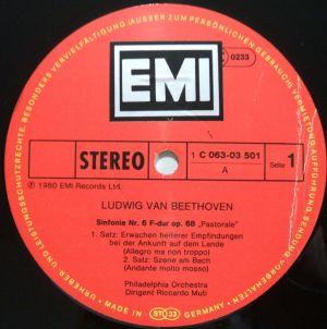 EMI ELECTROLA/HMV 1C 063-03 501 Label