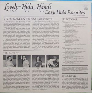 Hawaii Aloha Records SH8002 Lovely Hula Hands Liner Notes