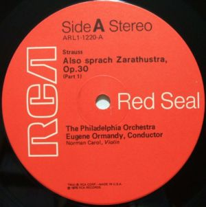 RCA Red Seal ARL1-1220 Label