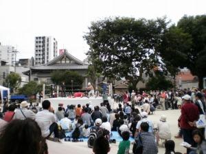 富士山公園で東海プロレスを見る