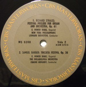Columbia Masterworks MS6398 label