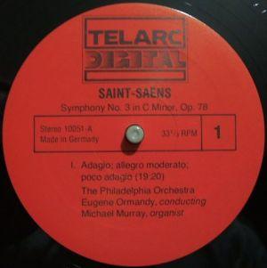 Telarc 10051 Label