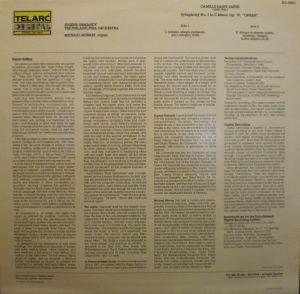 Telarc DG-10051 jacket liner notes