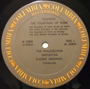 Columbia Masterworks The Fabulous Philadelphia Sound Series M30829 Label